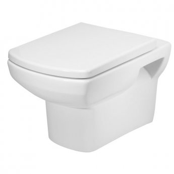Tavistock Vibe Wall Hung Toilet WC Pan 535mm Projection - Soft Close Seat