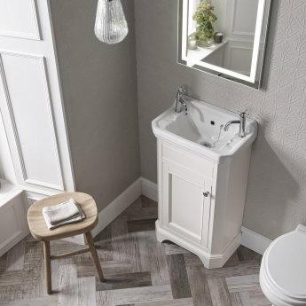 Tavistock Vitoria Cloakroom Basin 500mm Wide 2 Tap Hole