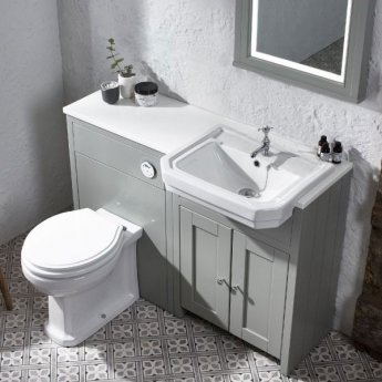 Tavistock Vitoria Semi Countertop Basin 550mm Wide - 1 Tap Hole