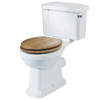Tavistock Vitoria Close Coupled Toilet with Lever Cistern - White Seat