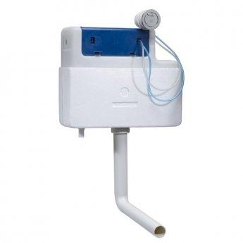 Tavistock Vortex Bottom Inlet Slimline Concealed Dual Flush Cistern - White