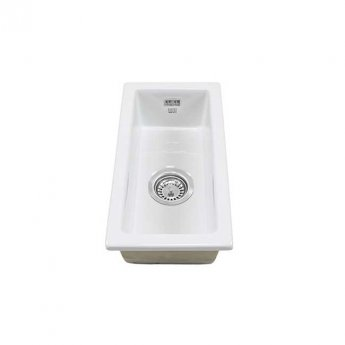 The 1810 Company Argilla 1 Bowl Fireclay Kitchen Sink 250mm Wide - White