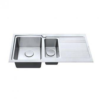 The 1810 Company Bordouno 150i 1.5 Bowl Kitchen Sink - Left Handed