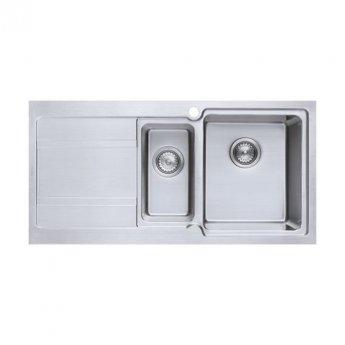 The 1810 Company Bordouno 150i 1.5 Bowl Kitchen Sink - Right Handed