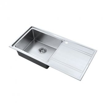 The 1810 Company Bordouno 100i 1 Bowl Kitchen Sink - Left Handed