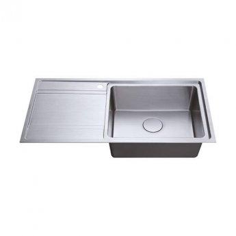 The 1810 Company Bordouno 100i 1 Bowl Kitchen Sink - Right Handed