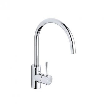 The 1810 Company Qfit Courbe Curved Spout Kitchen Sink Mixer Tap - Chrome
