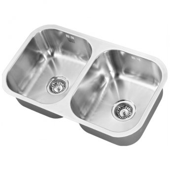 The 1810 Company Etroduo 340/340U 2.0 Bowl Kitchen Sink - Stainless Steel