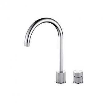 The 1810 Company Finire 2 Hole Design Kitchen Sink Mixer Tap - Brushed Steel