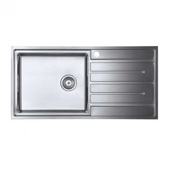 The 1810 Company Forzauno 100i Large 1.0 Bowl Kitchen Sink - Left Handed