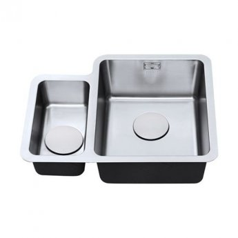 The 1810 Company Luxsoplusduo25 160/340U 1.5 Bowl Kitchen Sink - Right Handed