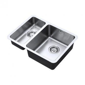 The 1810 Company Luxsoplusduo25 180/340U 1.5 Bowl Kitchen Sink - Right Handed