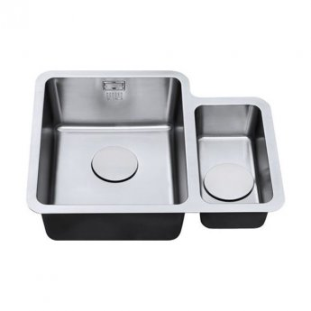 The 1810 Company Luxsoplusduo25 340/160U 1.5 Bowl Kitchen Sink - Left Handed