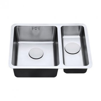 The 1810 Company Luxsoplusduo25 340/180U 1.5 Bowl Kitchen Sink - Left Handed