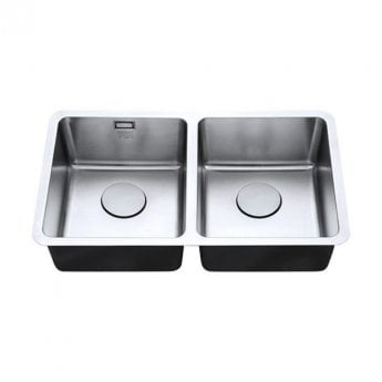 The 1810 Company Luxsoplusduo25 340/340U 2.0 Bowl Kitchen Sink - Stainless Steel