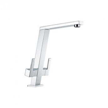 The 1810 Company Pendenza Double Lever Kitchen Sink Mixer Tap - Chrome