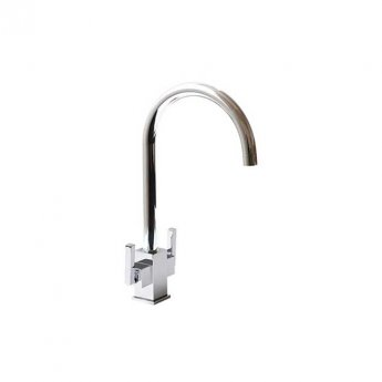 The 1810 Company Ruscello Square Body Kitchen Sink Mixer Tap - Chrome
