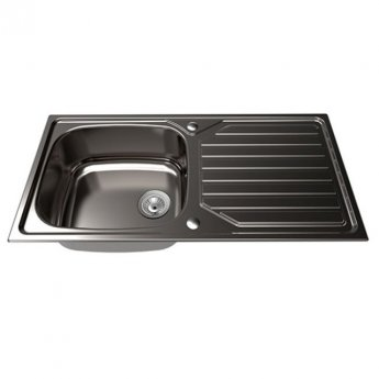 The 1810 Company Veloreuno 100i Large 1.0 Bowl Kitchen Sink - Stainless Steel