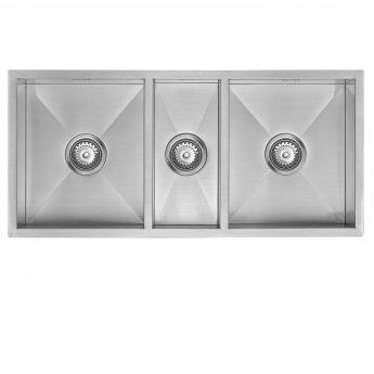 The 1810 Company Zentrio 340/180/340U 3.0 Bowl Kitchen Sink - Stainless Steel
