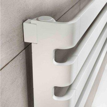 TRC BDO Step Heated Towel Rail 430mm H x 1500mm W - White Pearl