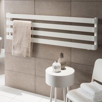 TRC BDO Step Heated Towel Rail 430mm H x 1500mm W - Black Chrome