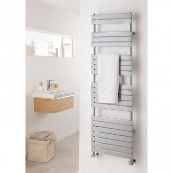 TRC Piano Heated Towel Rail 1156mm H x 606mm W - White
