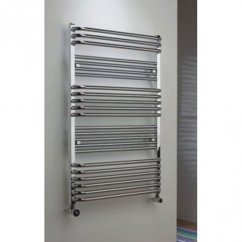 TRC Poll Heated Towel Rail 1055mm H x 700mm W - Chrome