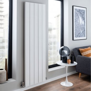 TRC Torre Single Vertical Radiator 1800mm H x 596mm W - Matt White