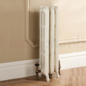 TRC Trieste 2 Column Radiator 661mm High x 252mm Wide - 3 Sections - Primer