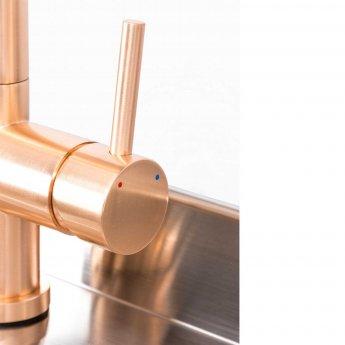 Trianco Aztec Instant Hot Water Kitchen Tap 3 in 1 - Copper