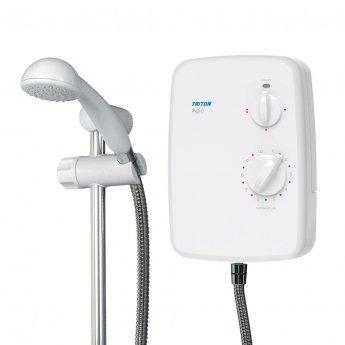 Triton Agio Electric Shower 8.5kW - White/Chrome