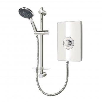 Triton Aspirante Electric Shower 9.5 kW - White Gloss