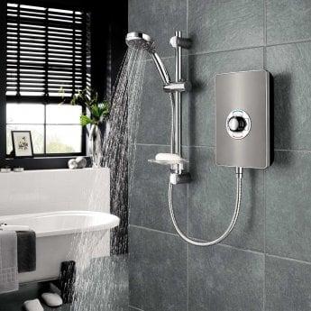 Triton Aspirante Electric Shower 8.5 kW - Gun Metal