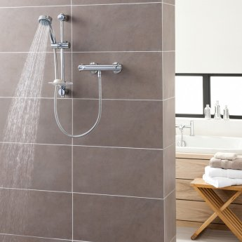 Triton Dene Cool Touch Bar Mixer Shower with Shower Kit - Chrome