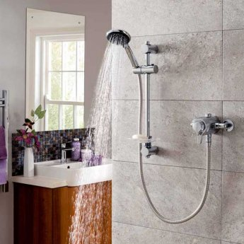 Triton Eden Thermostatic Dual Concealed Shower Mixer with Shower Kit - Chrome