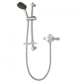 Triton Lentini Concentric Exposed Mixer Shower with Shower Kit - Chrome