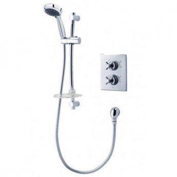 Triton Mersey Thermostatic Dual Concealed Shower Mixer with Shower Kit - Chrome