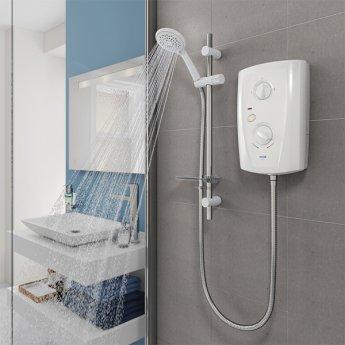 Triton T80 Pro-Fit Electric Shower 8.5 kW - White/Chrome