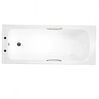 Trojan Granada Single Ended Rectangular Bath with Twin Grips 1700mm x 700mm - 5mm