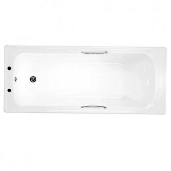 Trojan Granada Single Ended Rectangular Bath with Twin Grips 1700mm x 700mm - 2 Tap Hole