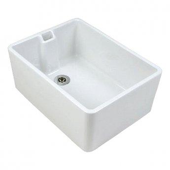Twyford Belfast Utility Kitchen Sink 225mm D x 610mm L x 455mm W - White