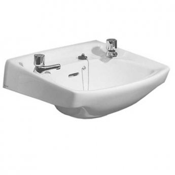 Twyford Classic Wall Hung Basin 560mm Wide - 2 Tap Hole