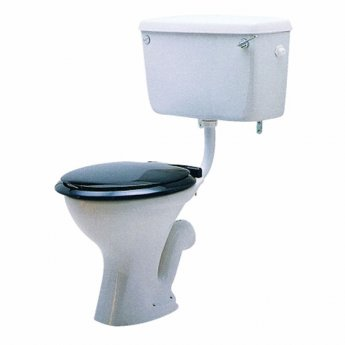 Twyford Classic Low Level Toilet with Side Inlet Lever Cistern - Excluding Seat