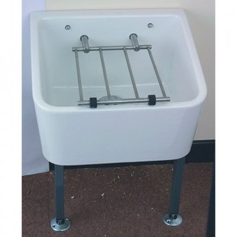 Twyford Cleaners Sink with Grating 465mm L x 400mm W - White