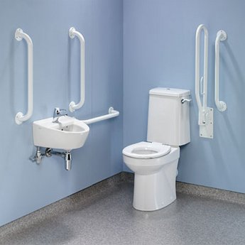 Twyford Doc M Value Pack with Rimless Disabled Toilet - White