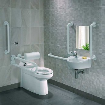 Twyford Doc M Rimless Pack With BTW Disabled Toilet Left Handed - White