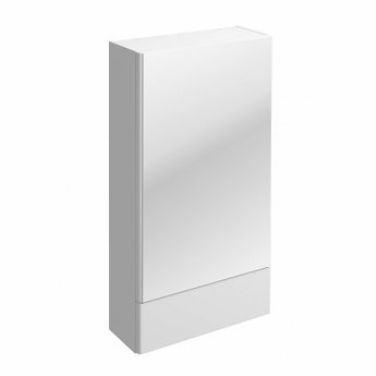 Twyford E100 Square Mirror Cabinet 460mm Wide - White