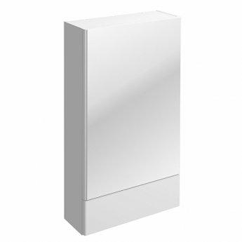 Twyford E100 Square Mirror Cabinet 500mm Wide - White