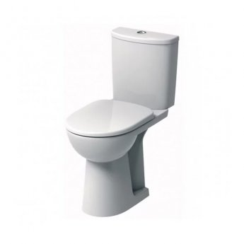 Twyford E100 Round Close Coupled Toilet WC Standard Push Button Cistern - Soft Close Seat & Cover