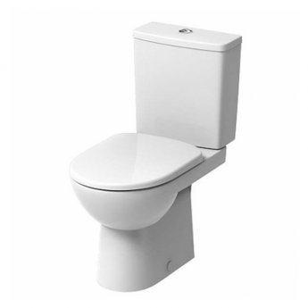 Twyford E100 Square Premium Close Coupled Toilet with Push Button Cistern - Soft Close Seat